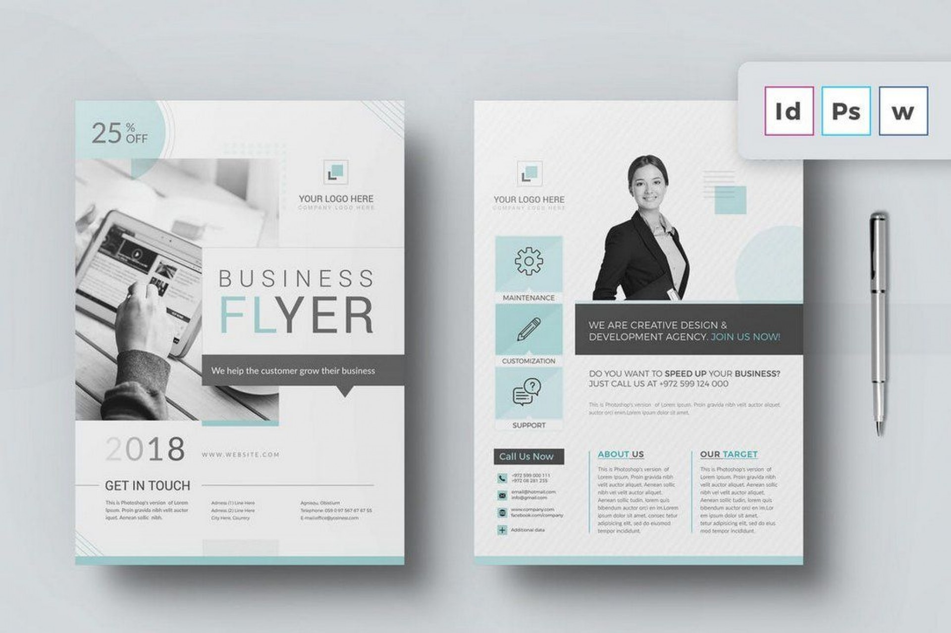 007 Marvelou Microsoft Word Brochure Template Example  M Free Download Design 2007 A41920