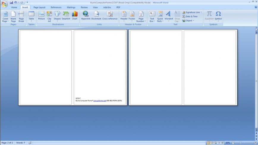 Note Card Layout Microsoft Word Addictionary