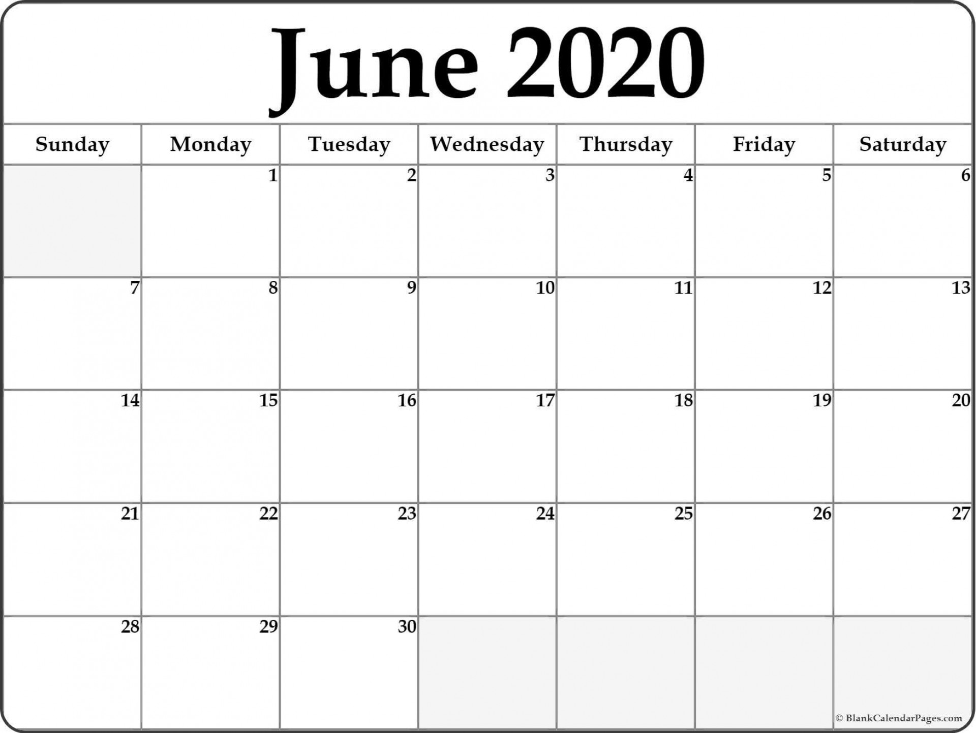 007 Marvelou Printable Calendar Template June 2020 High Resolution  Free1920