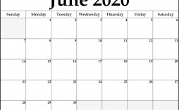 007 Marvelou Printable Calendar Template June 2020 High Resolution  Free