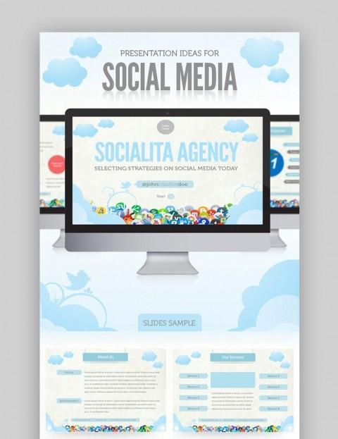 007 Marvelou Social Media Proposal Template Ppt High Definition 480