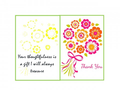 007 Marvelou Thank You Card Template Inspiration  Wedding Busines Word Free480
