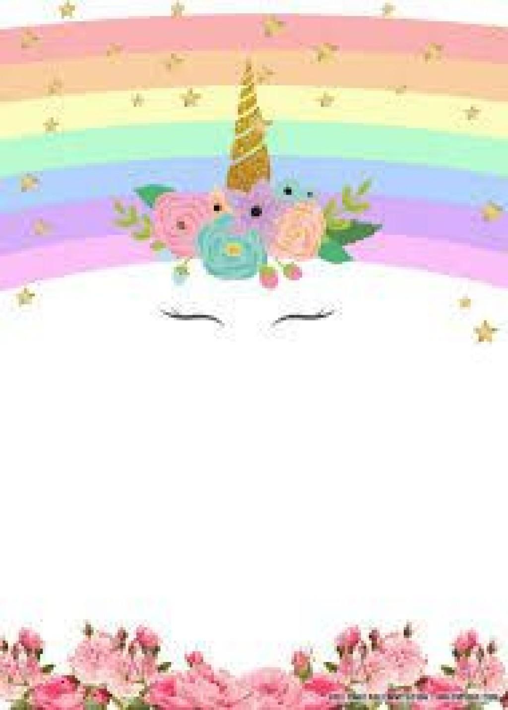 007 Marvelou Unicorn Baby Shower Template Free Download Photo  Printable InvitationLarge