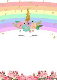 007 Marvelou Unicorn Baby Shower Template Free Download Photo  Printable InvitationFull