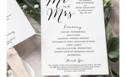 007 Marvelou Wedding Program Template Free Download Photo  Downloadable Pdf Reception Microsoft Word Fan