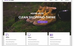 007 Outstanding Adobe Muse Template Free Concept  2019 Ecommerce Download Parallax