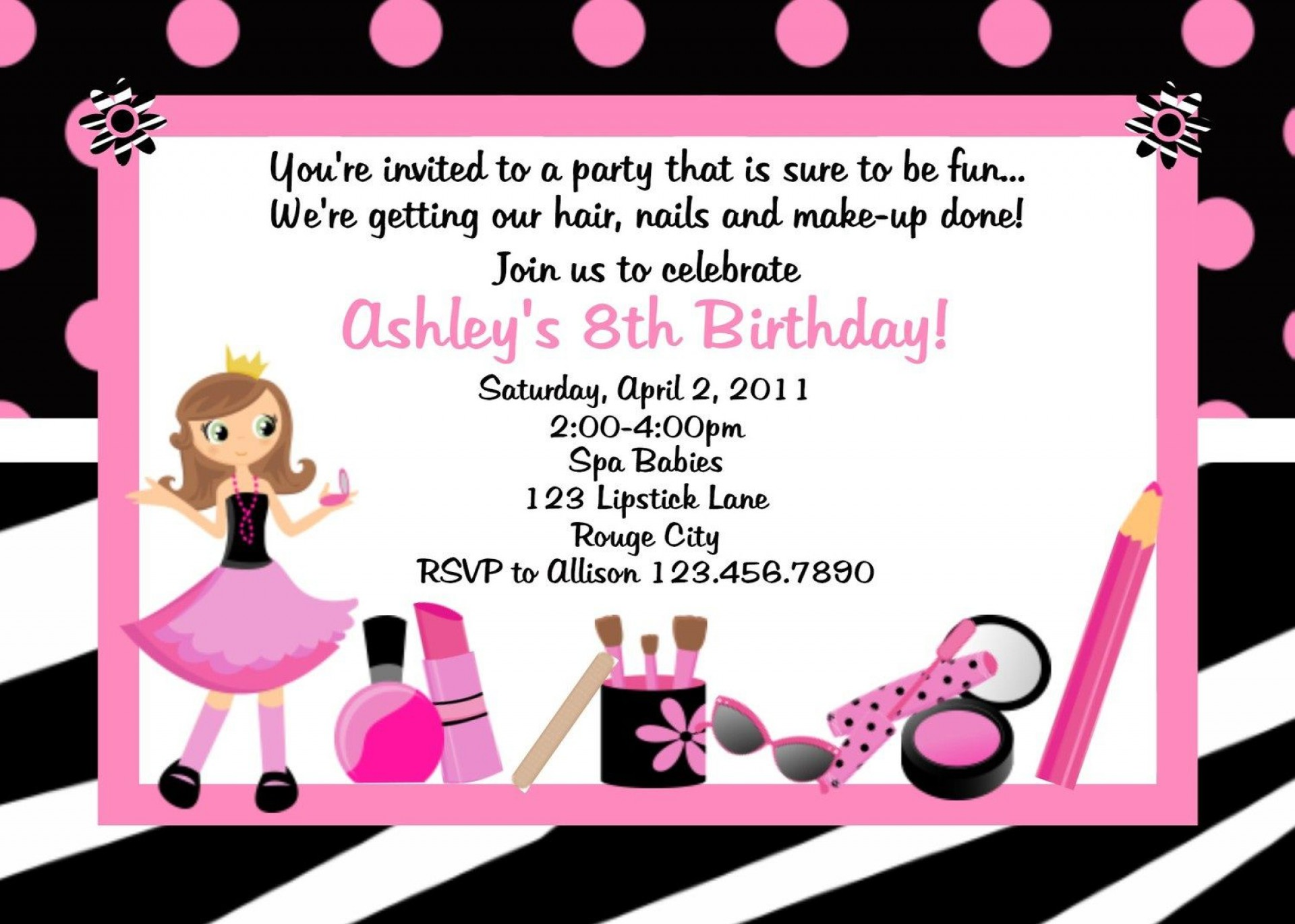 007 Outstanding Birthday Invitation Wording Example Picture  Examples Party Invite Brunch Idea1920