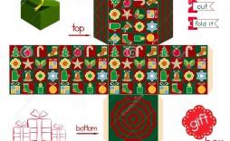 007 Outstanding Christma Gift Box Template Free Printable Example  Tree