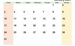 007 Outstanding Editable Calendar Google Doc 2021 Photo