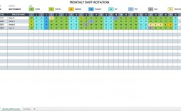 007 Outstanding Free Excel Monthly Employee Schedule Template Sample  Download