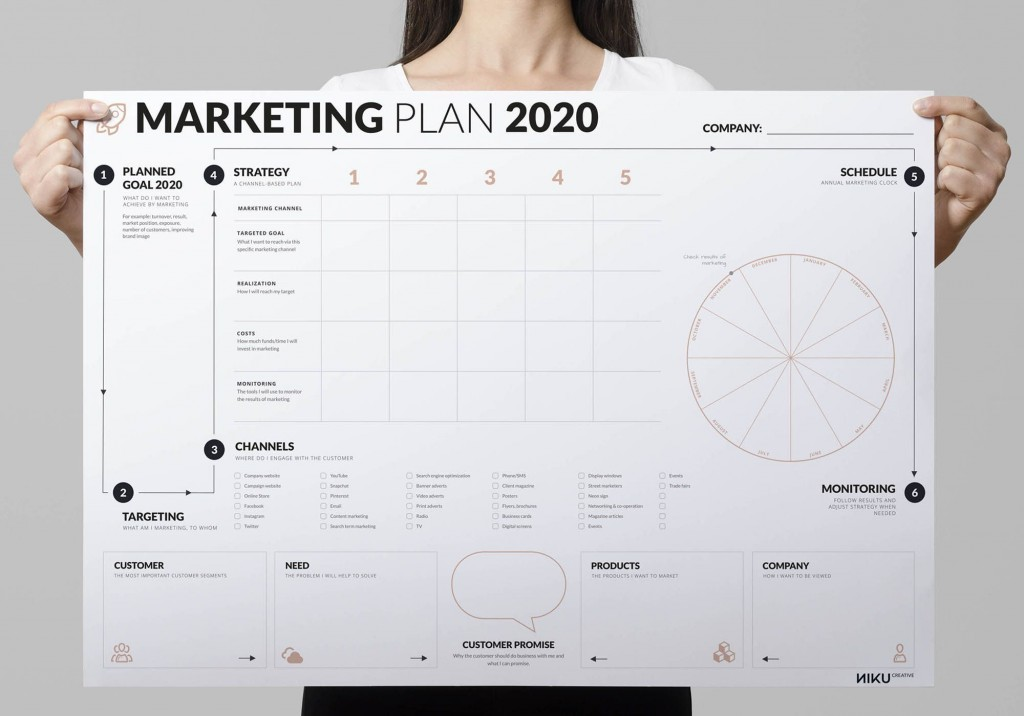 007 Outstanding Free Marketing Plan Template Picture  Hubspot Download PptLarge