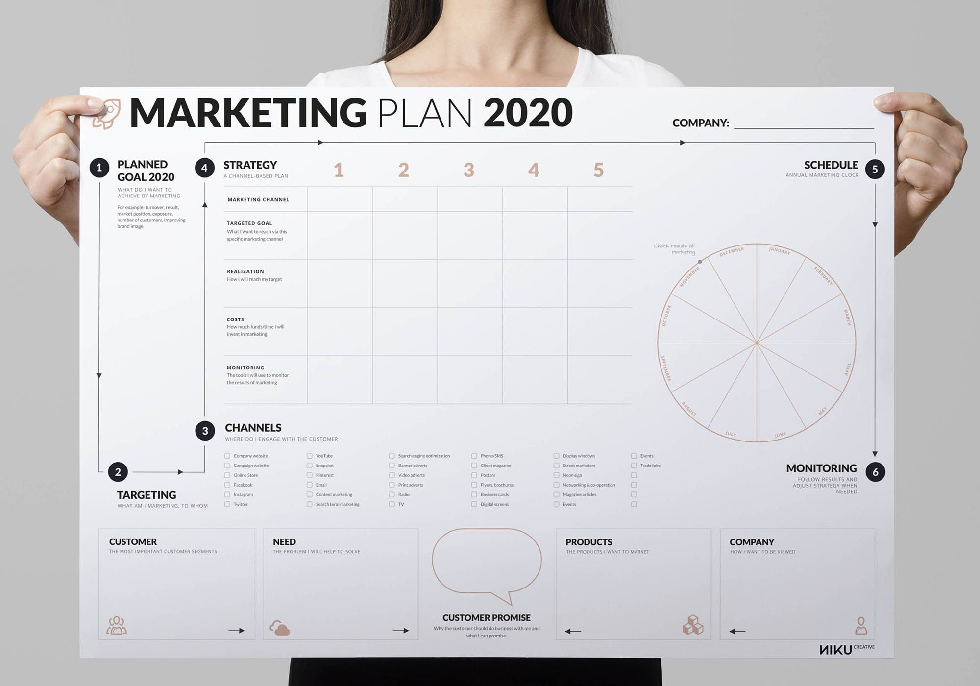 007 Outstanding Free Marketing Plan Template Picture  Hubspot Download PptFull