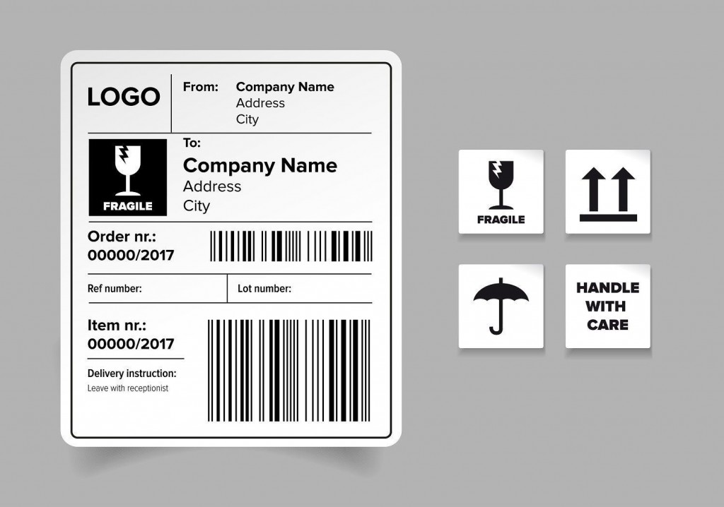 007 Outstanding Free Shipping Label Template Photo  Templates Usp Avery WordLarge