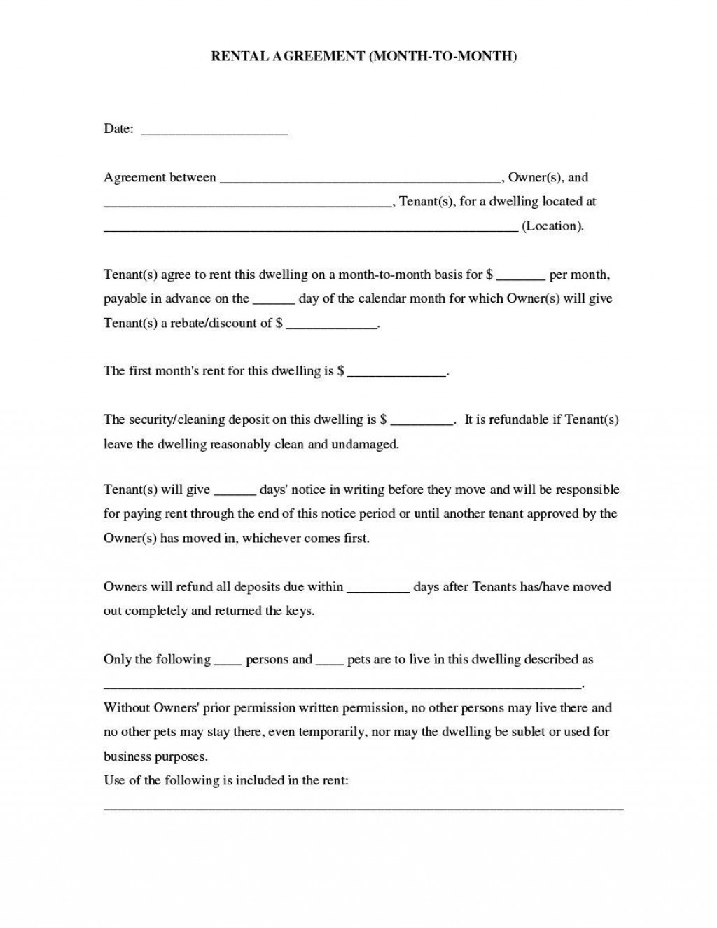 007 Outstanding Housing Rental Agreement Template Free High Resolution Large