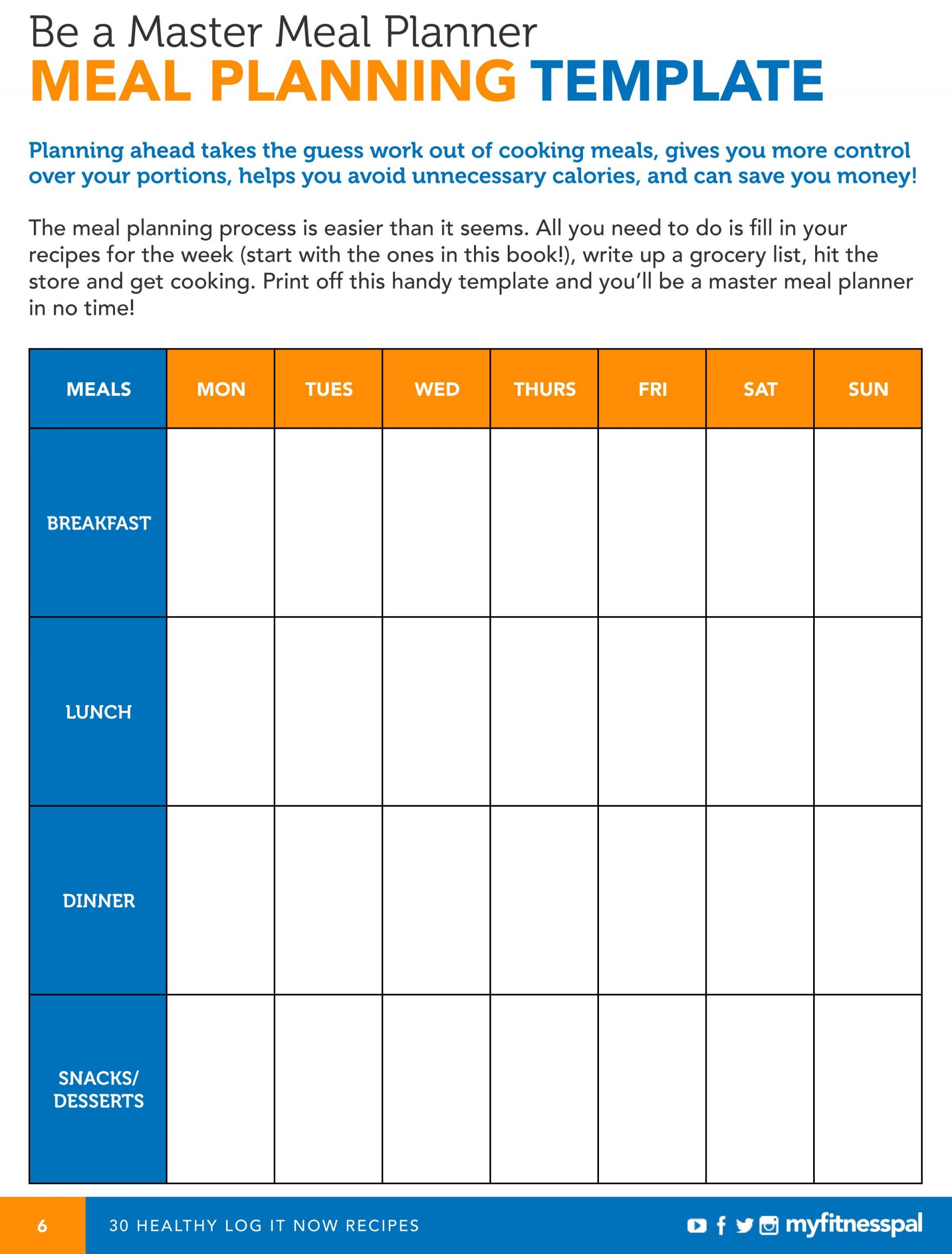 007 Outstanding Meal Plan Template Excel Inspiration  Monthly Macro1920