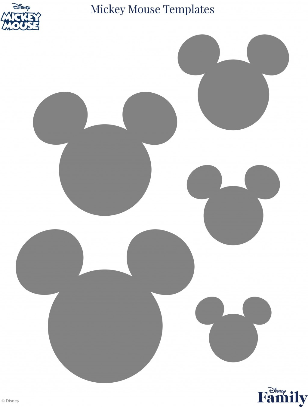 007 Outstanding Mickey Mouse Face Template For Cake Sample  PrintableLarge