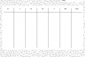 007 Outstanding Printable Weekly Planner Template Cute Highest Clarity  Free Calendar