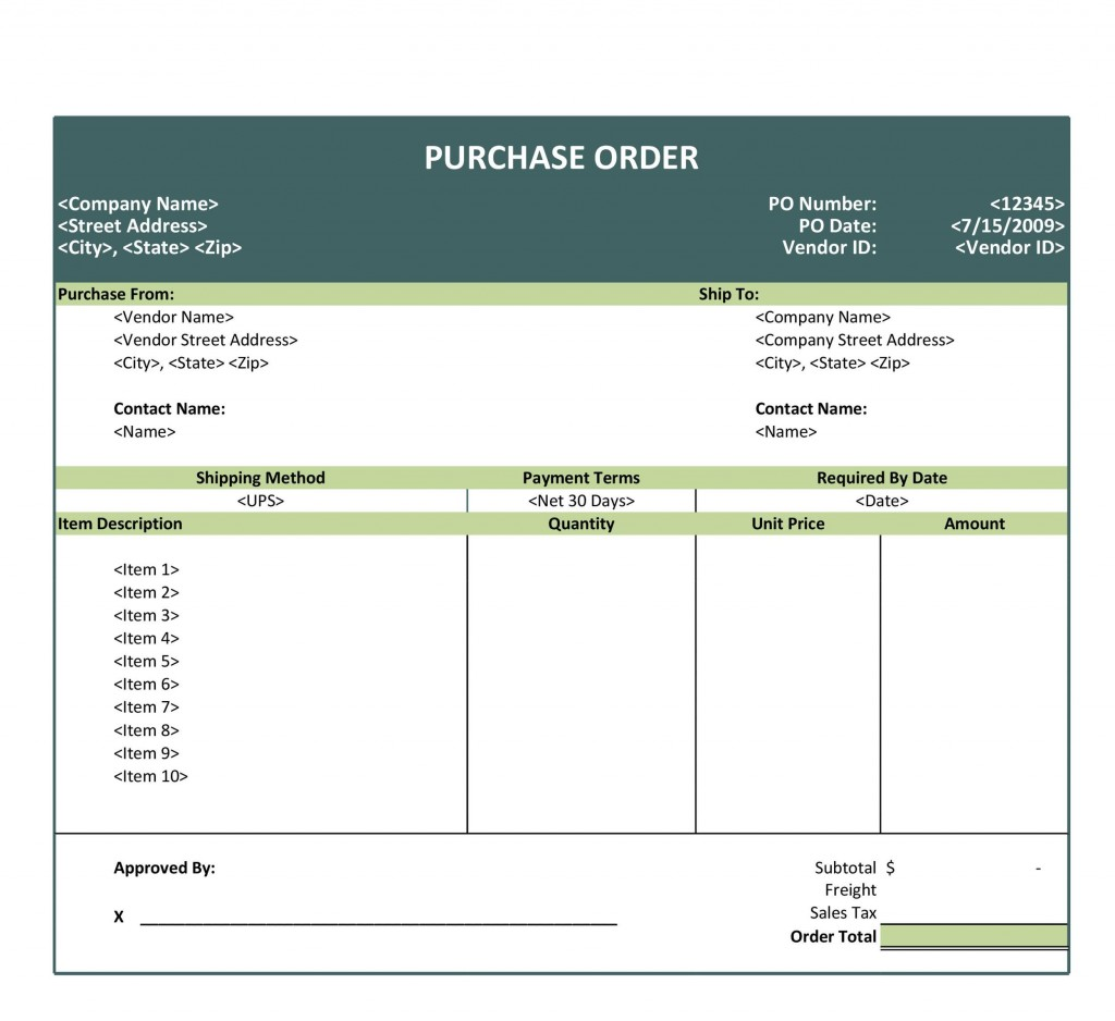 007 Outstanding Purchase Order Template Free Concept  Log M Acces BlanketLarge