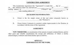 007 Outstanding Residential Construction Contract Template Idea  House Agreement Pdf