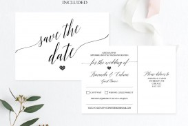 007 Outstanding Save The Date Postcard Template Image  Diy Free Birthday