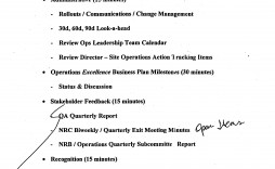 007 Outstanding Staff Meeting Agenda Template Example  Format
