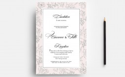 007 Outstanding Wedding Order Of Service Template Free Download Idea  Downloadable That Can Be Printed
