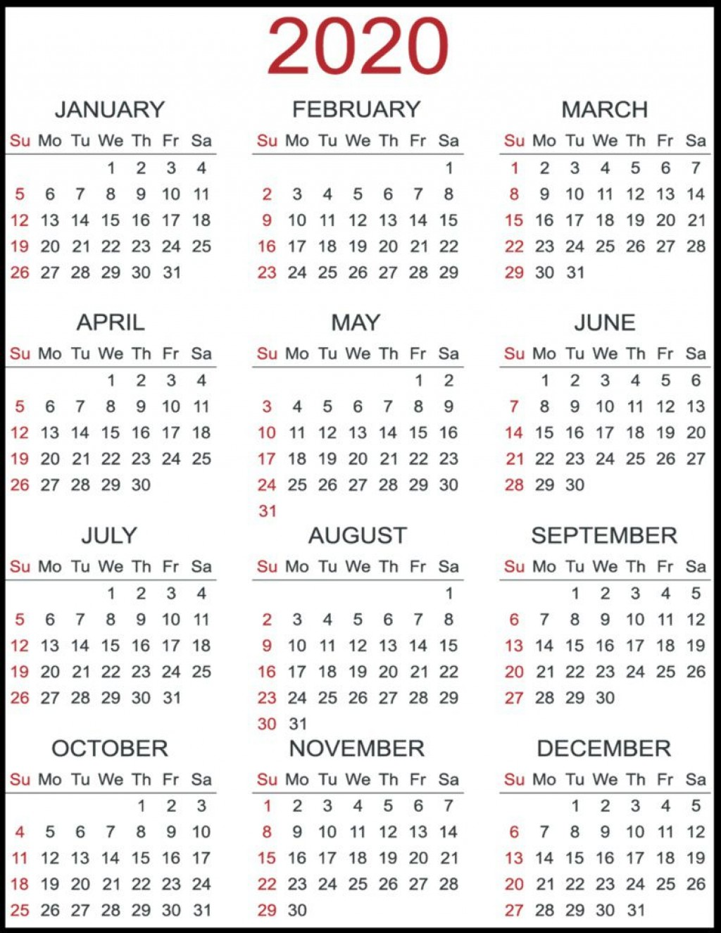 007 Phenomenal 2020 Payroll Calendar Template High Resolution  Biweekly Canada Free ExcelLarge
