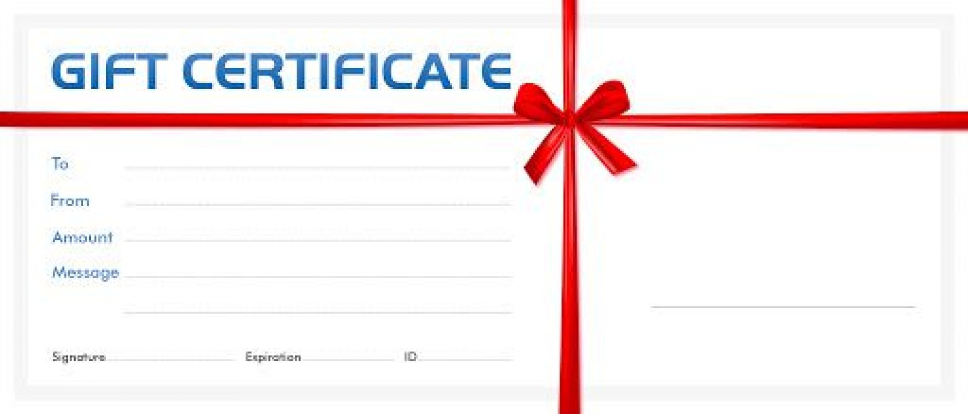 007 Phenomenal Blank Gift Certificate Template Photo  Free Printable Downloadable1920