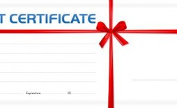 007 Phenomenal Blank Gift Certificate Template Photo  Free Printable Downloadable