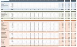 007 Phenomenal Cash Flow Sample Excel Concept  Sheet Spreadsheet Bar Chart