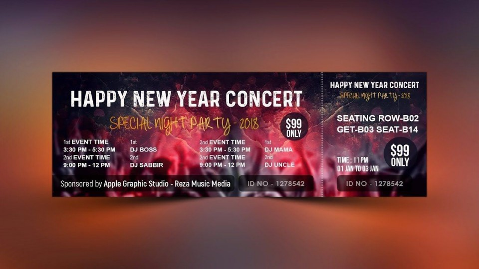 007 Phenomenal Concert Ticket Template Google Doc Image 960