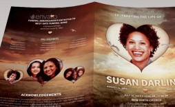 007 Phenomenal Free Celebration Of Life Brochure Template Photo  Flyer
