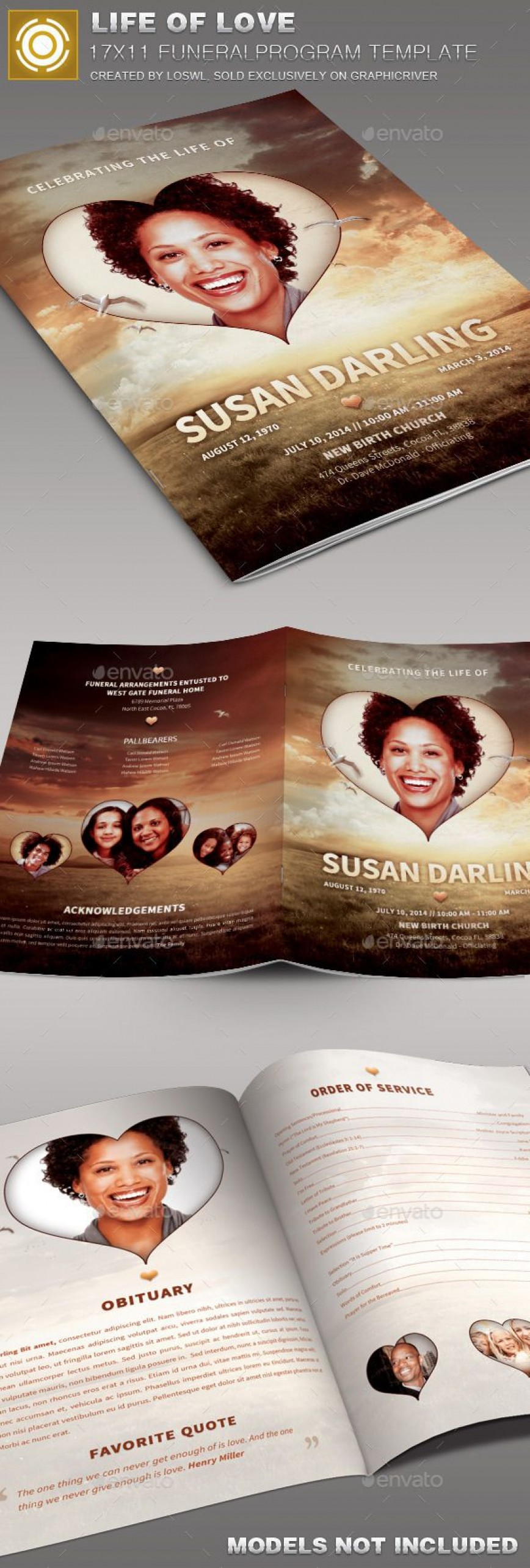 007 Phenomenal Free Celebration Of Life Brochure Template Photo  Flyer868