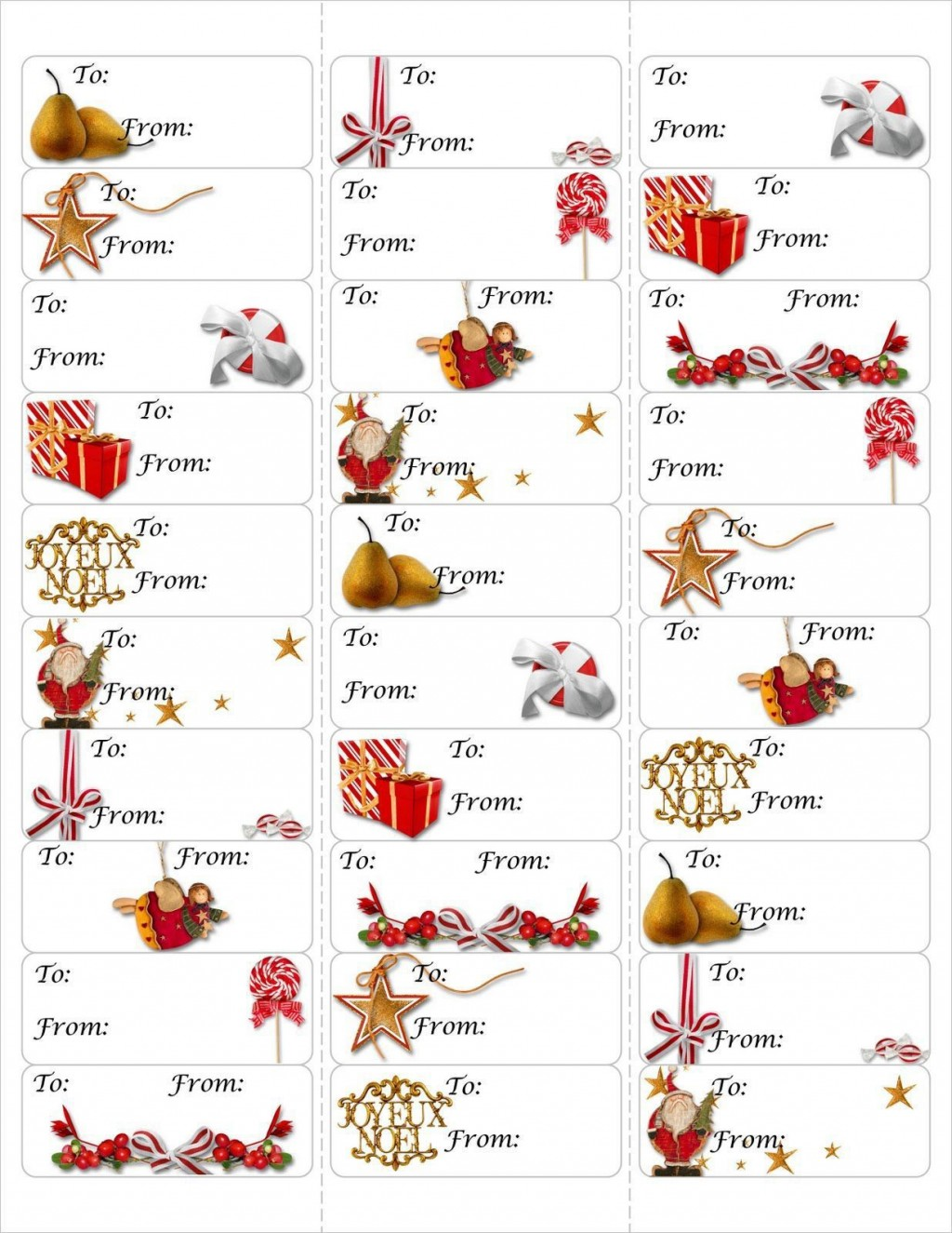 007 Phenomenal Free Christma Addres Label Template Avery 5160 Concept Large