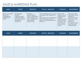 007 Phenomenal Free Marketing Plan Template Word Sample  Digital Download320