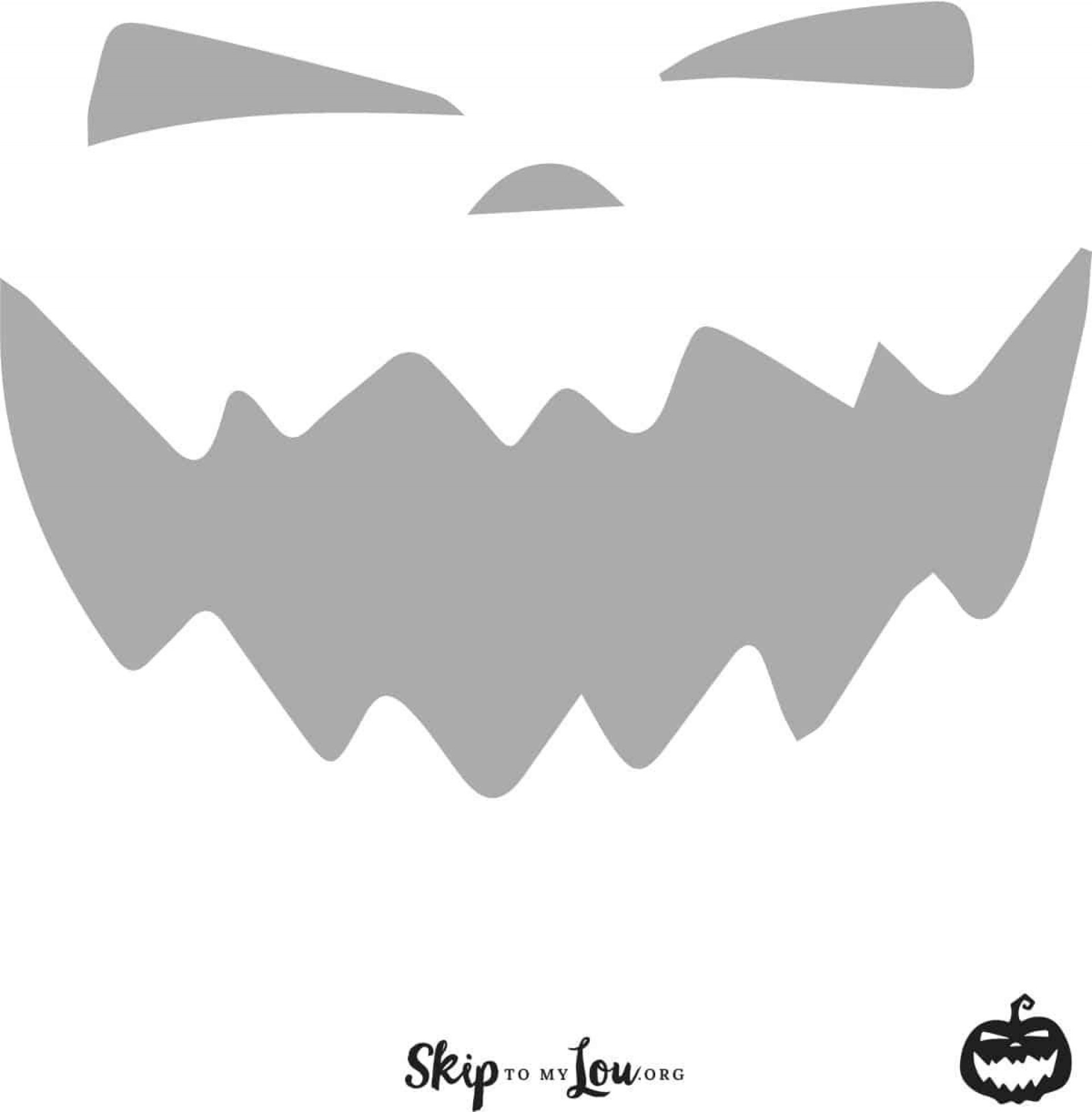 007 Phenomenal Free Pumpkin Template Printable Image  Easy Carving Scary Stencil1920