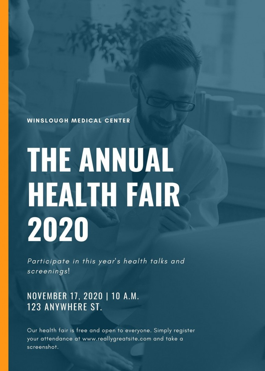 007 Phenomenal Health Fair Flyer Template High Definition  And Wellnes Word868