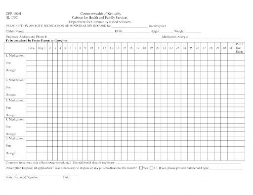 007 Phenomenal Medication Administration Record Template Excel Highest Quality  Monthly
