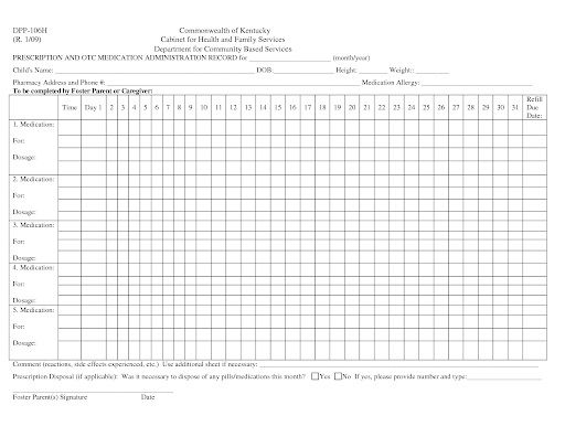 007 Phenomenal Medication Administration Record Template Excel Highest Quality  MonthlyFull