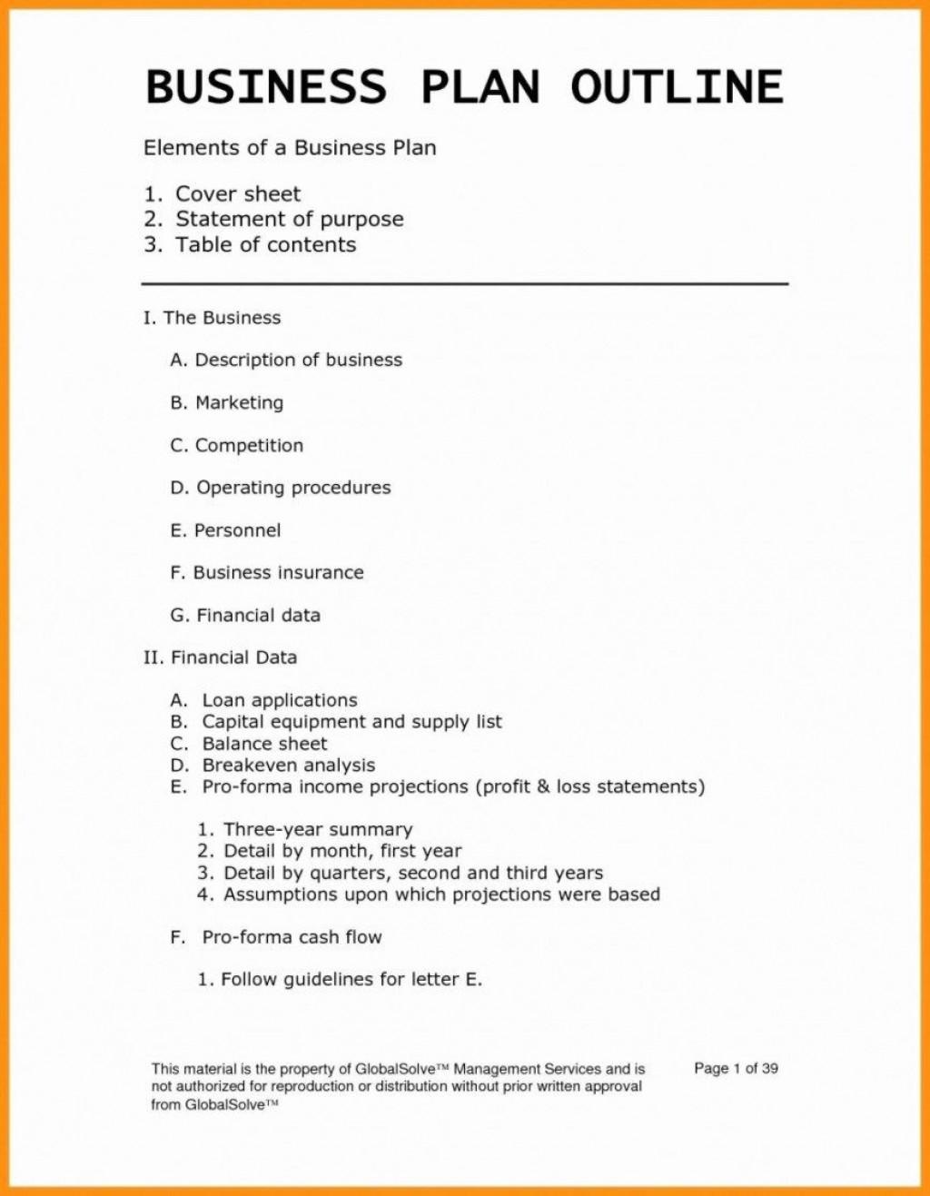 007 Phenomenal Startup Busines Plan Example Doc Design  SampleLarge