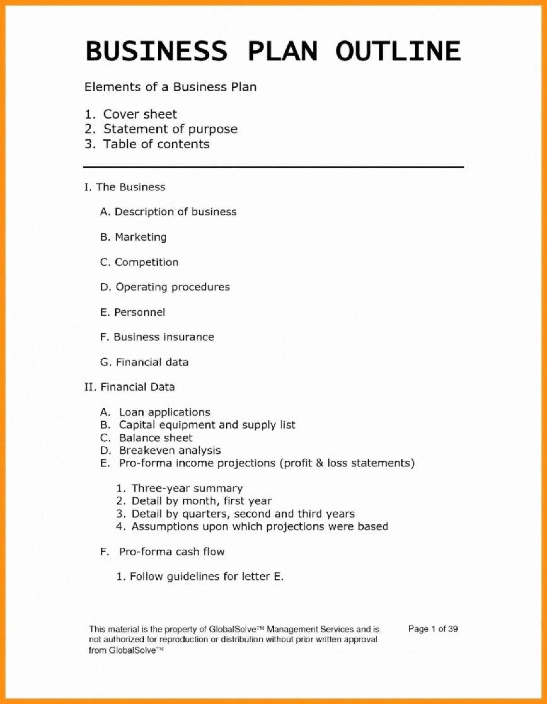007 Phenomenal Startup Busines Plan Example Doc Design  Sample1920