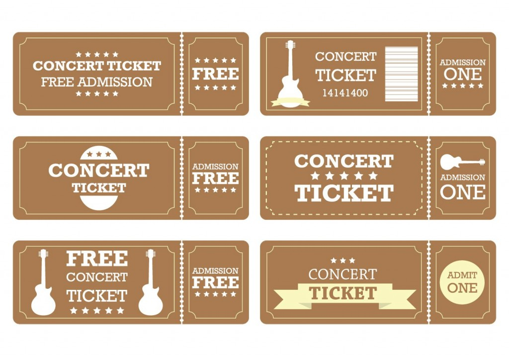 007 Phenomenal Vintage Concert Ticket Template Free Download Picture Large