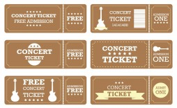 007 Phenomenal Vintage Concert Ticket Template Free Download Picture