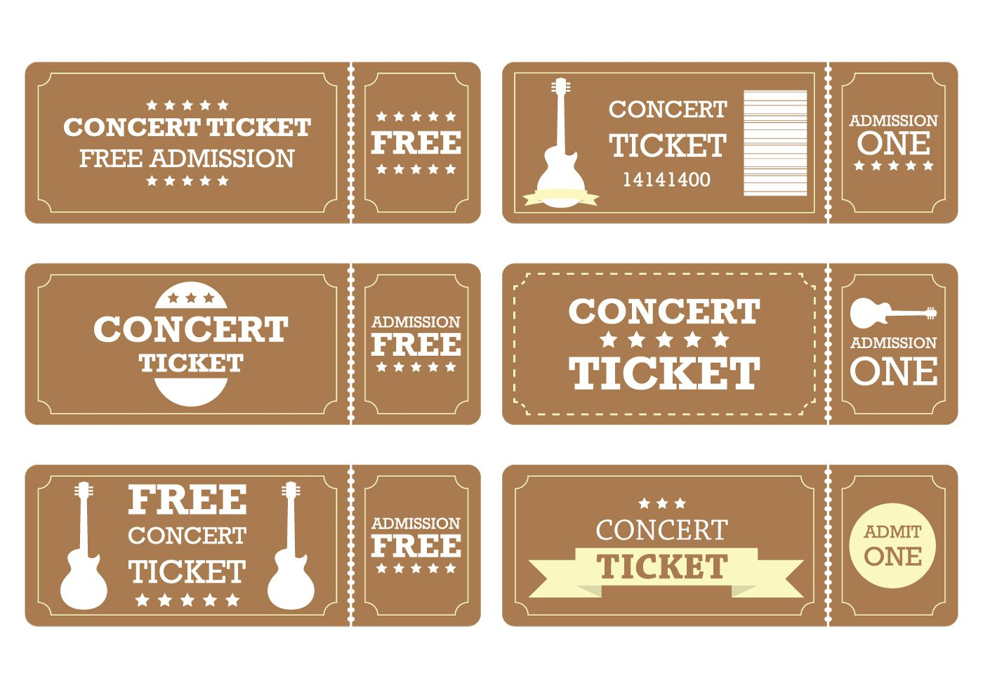 007 Phenomenal Vintage Concert Ticket Template Free Download Picture Full