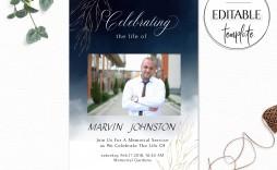007 Rare Celebration Of Life Invite Template Free Image  Invitation Download