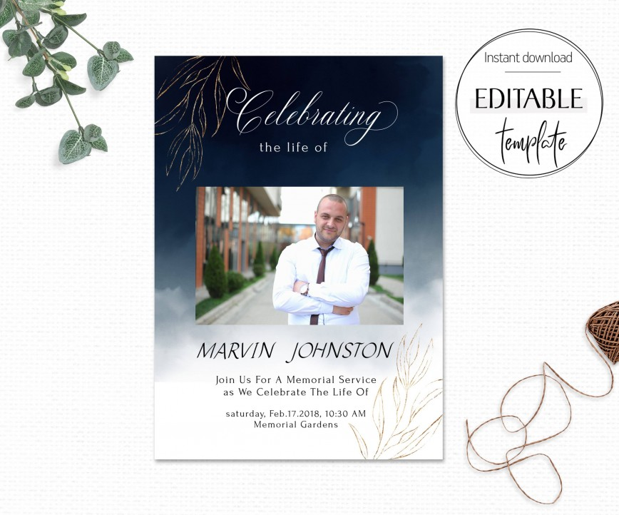 007 Rare Celebration Of Life Invite Template Free Image  Invitation Download868