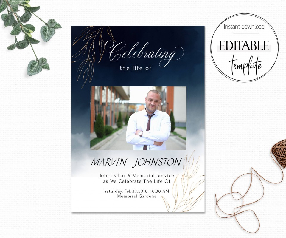 007 Rare Celebration Of Life Invite Template Free Image  Invitation Download960
