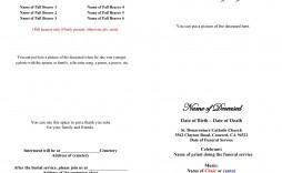007 Rare Celebration Of Life Program Template Free Image  Editable Word