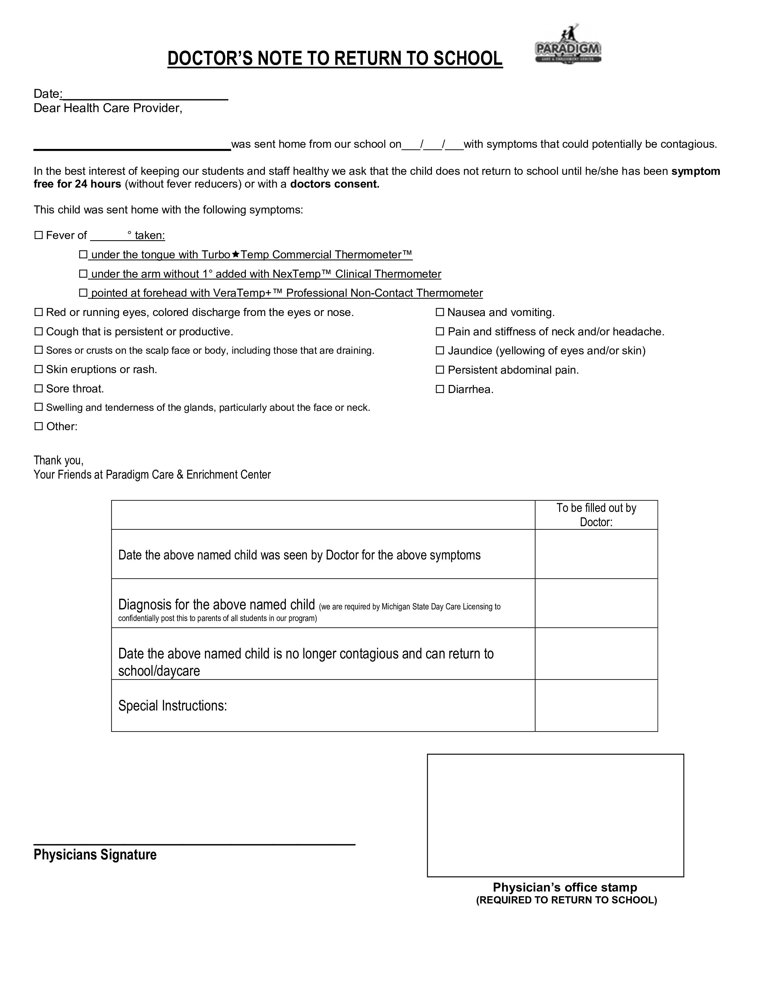 007 Rare Doctor Note For School Template Photo  Example FakeFull