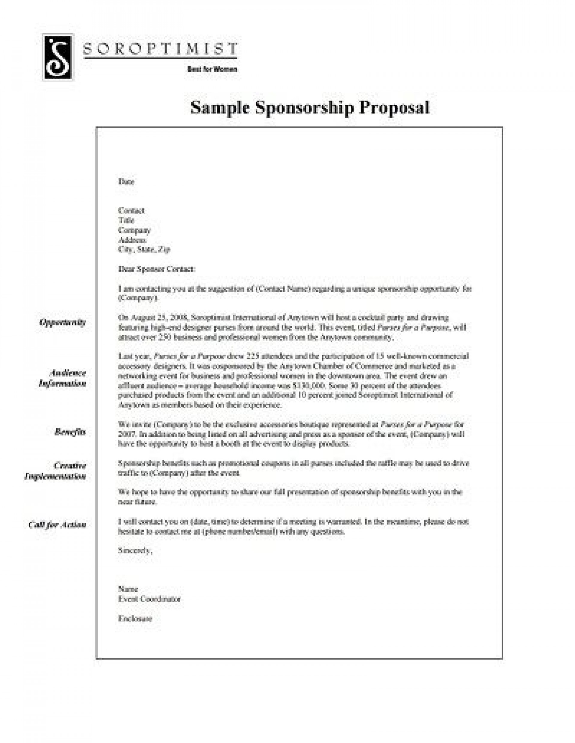 007 Rare Event Sponsorship Proposal Template High Resolution  Free Ppt Music Pdf1920